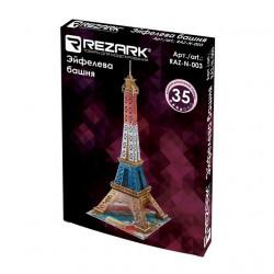 Эйфелева башня пазл 3D, пенополистирол 23x20.5x47см 35элементов Rezark