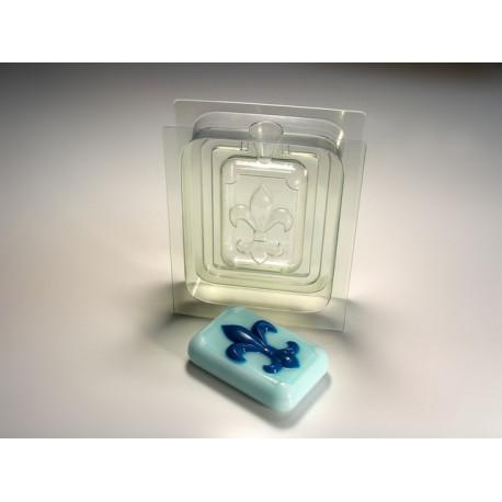 3D Флер де Лис, сторона А (перед) пластиковая форма для мыла МФ