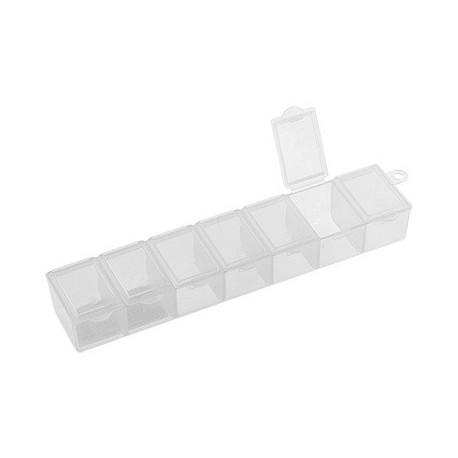 Контейнер для бисера прямоугольный 7ячеек, 15.3x3.4x2.4см GAMMA