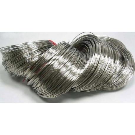 Ювелирный тросик (ланка), d 0.5мм, цвет платина, 5 м