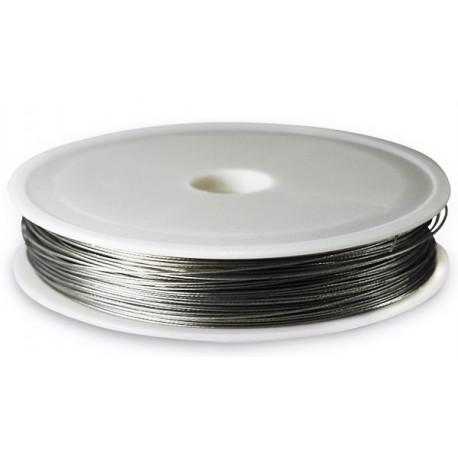 Ювелирный тросик (ланка), d 0.38мм, цвет платина, 5 м