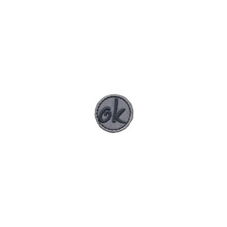 ОК серый/т.серый, d 2.5см, аппликация на клеевой основе. Annet