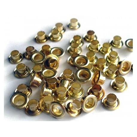 Блочки металлические, золото №04  d6 мм, 50шт