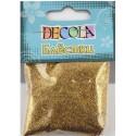 Блестки декоративные 0,1мм цвет античное золото 20гр Decola