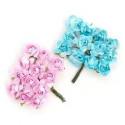 Цветы бумажные розово-бирюзовые 24шт. MAGIC HOBBY