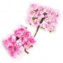 Цветы бумажные розовые 24шт. MAGIC HOBBY