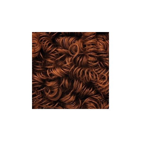 Каштановый, волосы для кукол кудрявые 70гр. HobbyBe