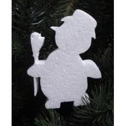 Снеговичок Весельчак, декор из пенопласта 15х1см