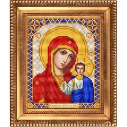 Казанская, ткань с рисунком для вышивки бисером 13,5х16,5см. Благовест