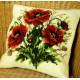 Маки, подушка для вышивания, канва 100% хлопок, нитки 100% акрил 40х40 см