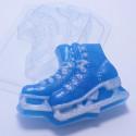 Коньки, пластиковая форма для мыла 95г 101х75х26мм XD
