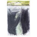 Серый(ассорти), декоративные перья 12-15см 24шт.±2 шт, Mr. Painter
