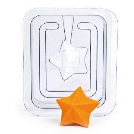 Звезда 3D (2половины), пластиковая форма для мыла 35г 60х40мм PC