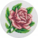 Королевская роза, набор для вышивания бисером, 12х12см, 9цветов Кларт
