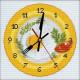 Время завтракать, набор для вышивания крестиком с часами, 20х20см, мулине DMC хлопок PTO