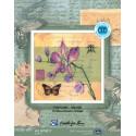 Почтовая открытка.Орхидея, набор для вышивания крестиком, 25х25см, мулине DMC хлопок PTO