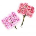 Цветы бумажные розово-коралловые 24шт. MAGIC HOBBY