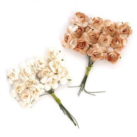 Цветы бумажные кремовые 24шт. MAGIC HOBBY