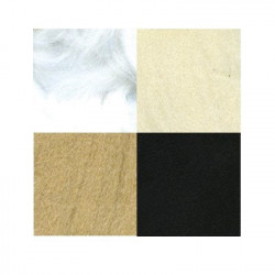 Ассорти №1, набор шерсти для валяния, 100%  мериносовая шерсть, 4х10гр. Gamma