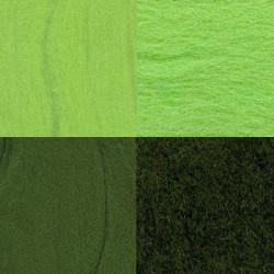 Ассорти №7, набор шерсти для валяния, 100%  мериносовая шерсть, 4х10гр. Gamma