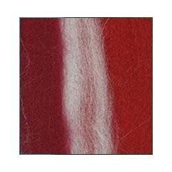 Отбелка/винный/красный, шерсть для валяния, 100% мериносовая шерсть 50г