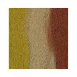 Терракот/горчица/песочный, шерсть для валяния, 100% мериносовая шерсть 50г