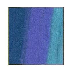Лесной колокольчик/бирюза/джинсовый, шерсть для валяния, 100% мериносовая шерсть 50г