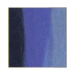 Т.синий/св.голубой/лесной колокольчик, шерсть для валяния, 100% мериносовая шерсть 50г