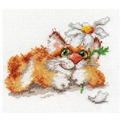 Мечтаю..., набор для вышивания крестиком, 14х12см, 17цветов Алиса