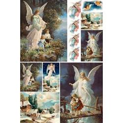 Ангел Хранитель, бумага рисовая для декупажа, 32х45 см. Love2Art