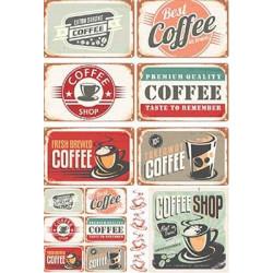 Кофейная карта, бумага рисовая для декупажа, 32х45 см. Love2Art