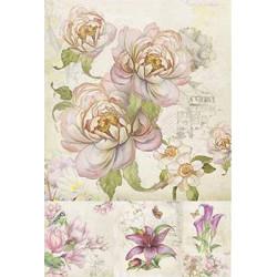 Садовые цветы, бумага рисовая для декупажа, 32х45 см. Love2Art