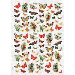 Бабочки, бумага рисовая для декупажа, 32х45 см. Love2Art