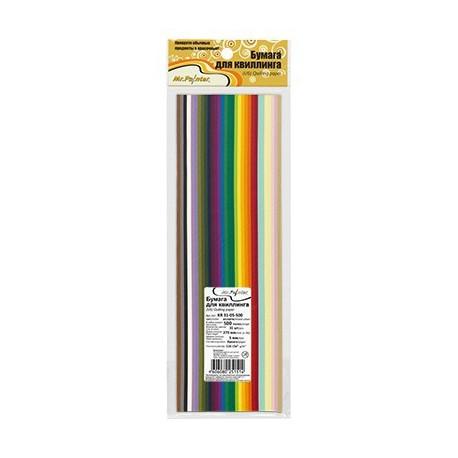 Ассорти, бумага для квиллинга 4мм, 500 полос, 31цвет Mr.Painter