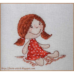 Куколка, набор для вышивания крестом 9х9см мулине Finca 10цв. канва Linda 27ct Neocraft