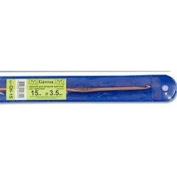 Розовый крючок для вязания металл d3.5мм 15см, GAMMA