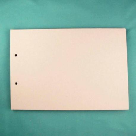 Прямоугольник, заготовка для альбома 20х29см картон 1,5мм 6листов 2отверстия без колец ЛЗ