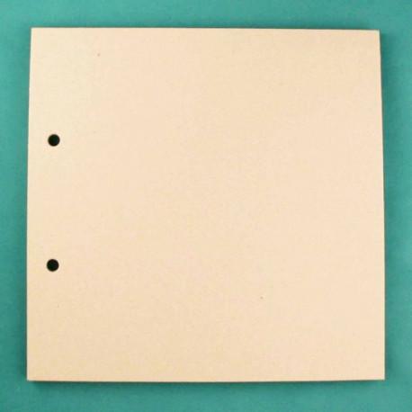 Квадрат средний, заготовка для альбома 20х20см картон 1,5мм 6листов 2отверстия без колец ЛЗ