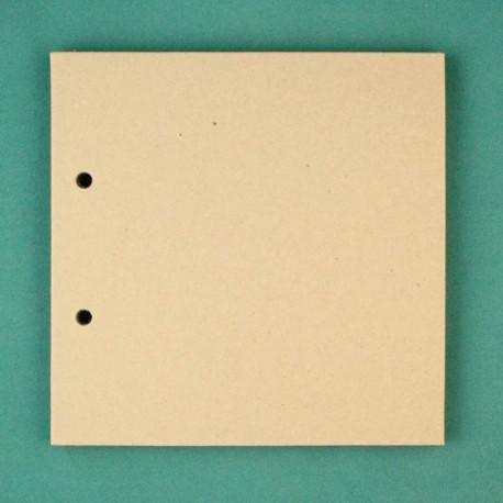 Квадрат малый, заготовка для альбома 15х15см 2отверстия без колец 6листов картон 1,5мм