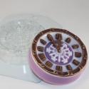 Часы новогодние, пластиковая форма для мыла XD
