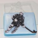 Хоккеист, пластиковая форма для мыла 100г 88х63х24мм XD