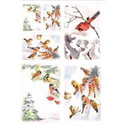 Птицы, бумага рисовая для декупажа, 32х45 см. Love2Art
