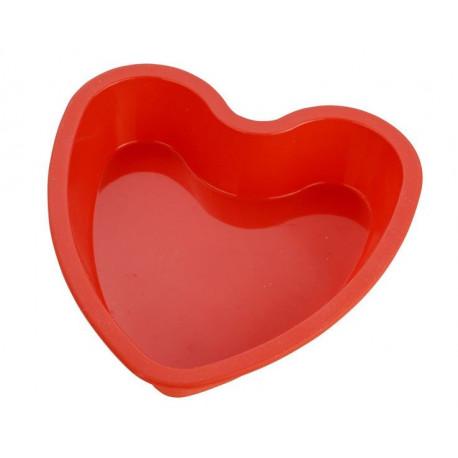 Сердце плоское, силиконовая форма для мыла