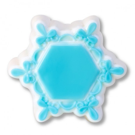 Рамка/снежинка, пластиковая форма для мыла 74г d65мм h20мм PC