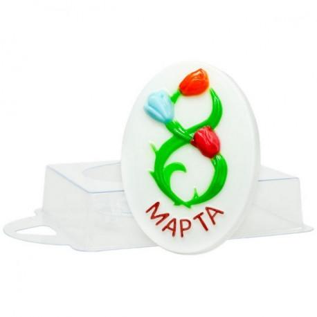 Букет 8 марта, пластиковая форма для мыла 81г 90х60х15мм PC