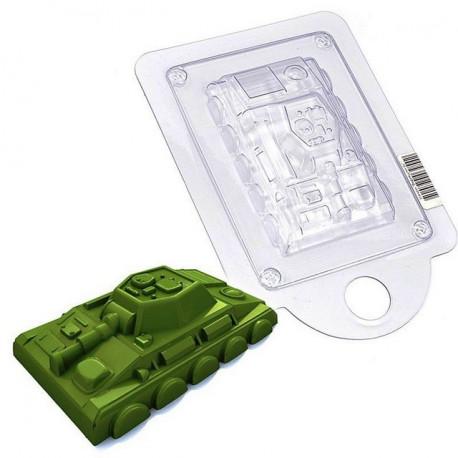 Танк, пластиковая форма для мыла 70г 90х55х22мм PC