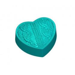 Сердце вязаное, 3D силиконовая форма для мыла