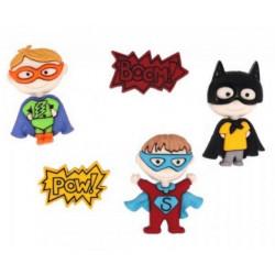 Супергерои, набор пуговиц 5шт пластик Dress It Up