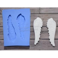 Крылья малые 5х1,5см, молд силиконовый универсальный АП