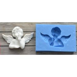 Мечтательный ангел 2 5х3,5см, молд силиконовый универсальный АП